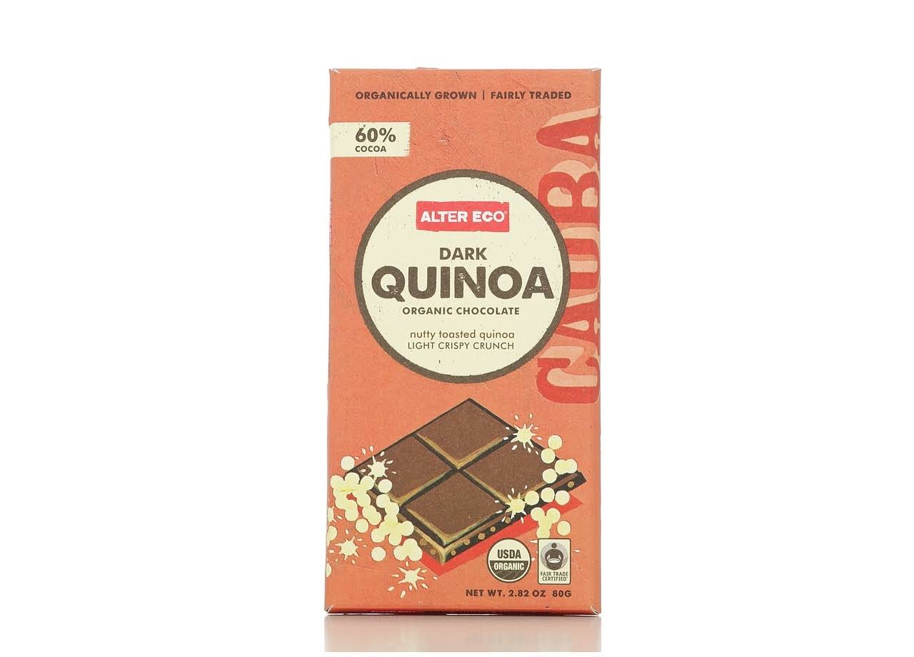 Alter Eco Organic Chocolate Bar - Dark Quinoa, 2.82oz
