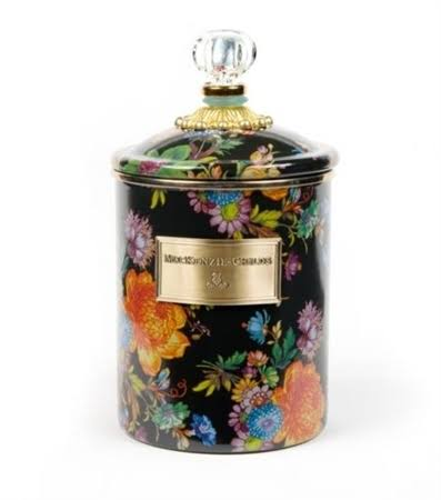 MacKenzie-Childs - Flower Market Enamel Canister - Black - Medium