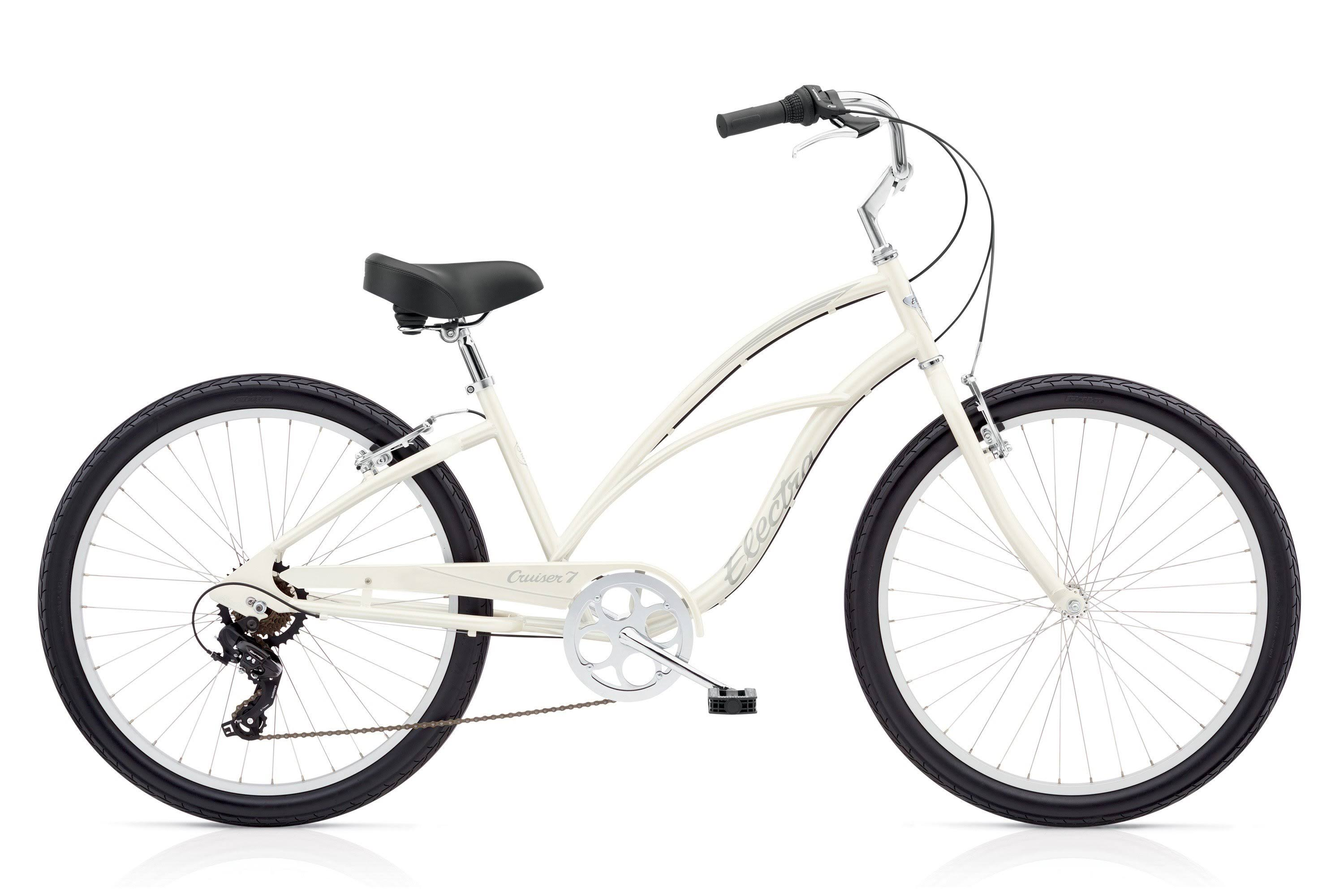 "Electra Cruiser 7D 24"" Ladies Pearl-White"