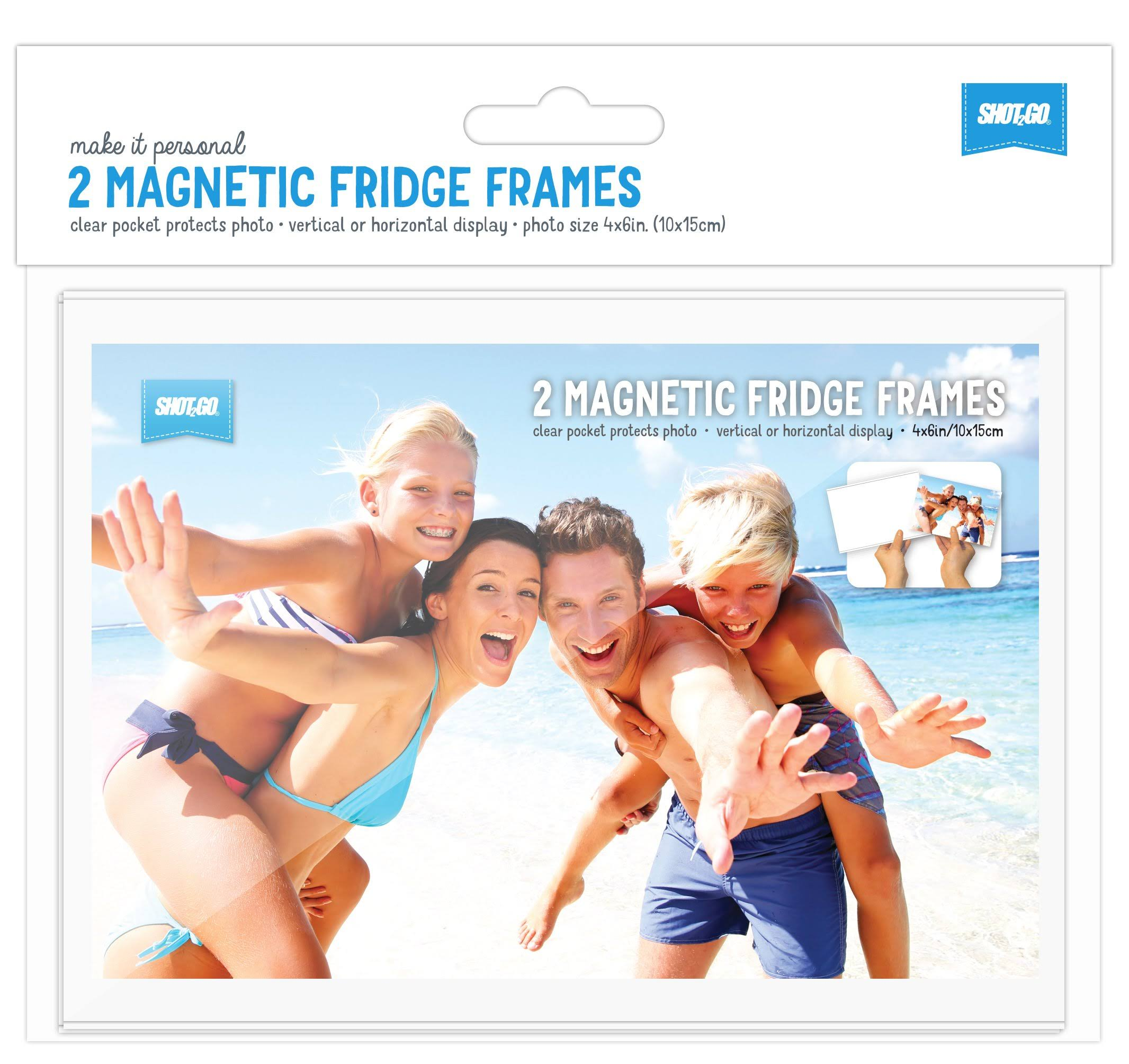 Shot2go Clear Magnetic Photo Fridge Frame Pockets 4x6