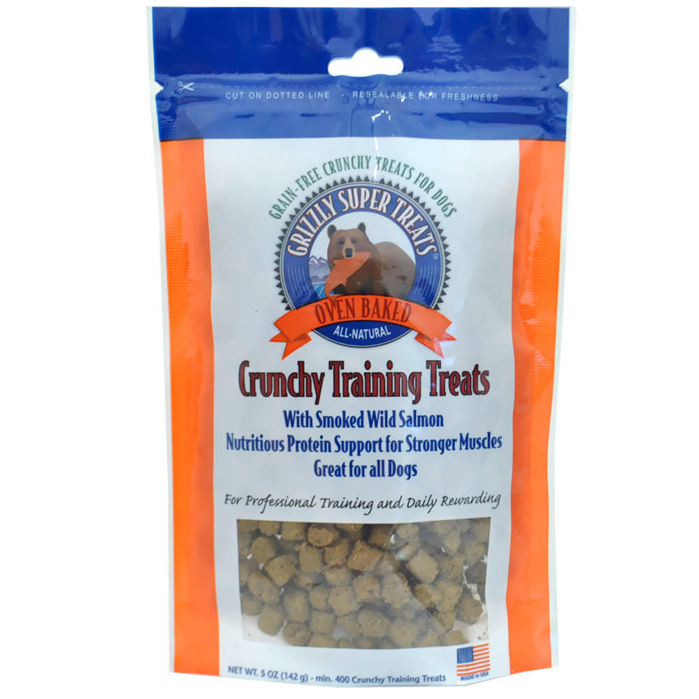 Grizzly Crunchy Training Treats - Smoked Salmon