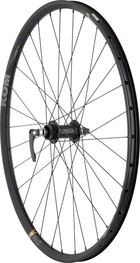 Quality Wheels Front Disc Wheel: 650B+ Road Plus 100mm QR and 15mm Convertible 32H Formula / KOM i23 / DT Factory Black