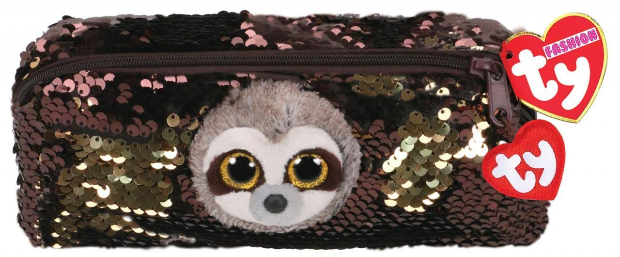 Ty Flippable Sequin Pencil Case Dangler The Sloth