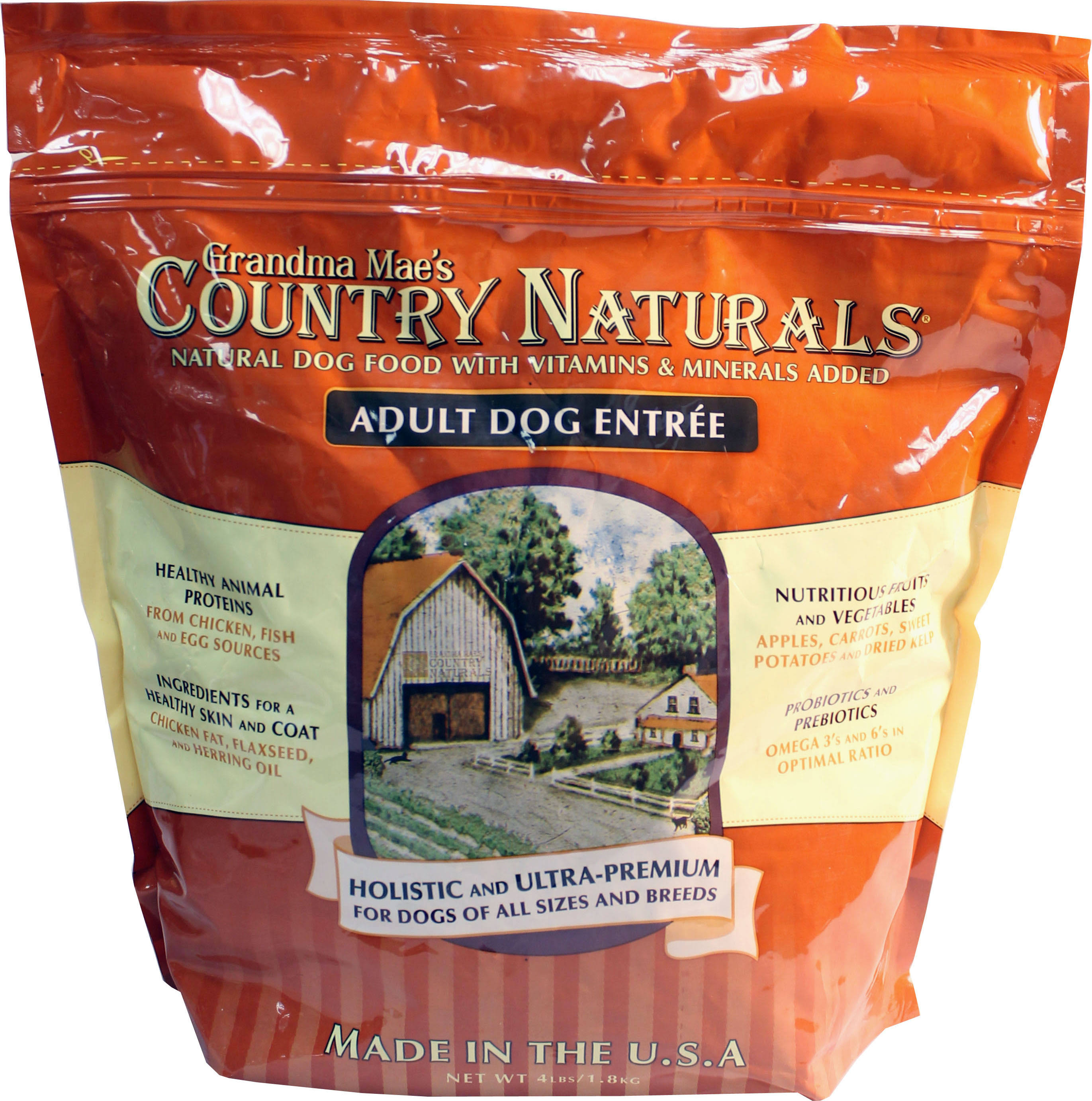 Grandma Mae S Country Naturals Adult Dogs Food - 4lb Bag