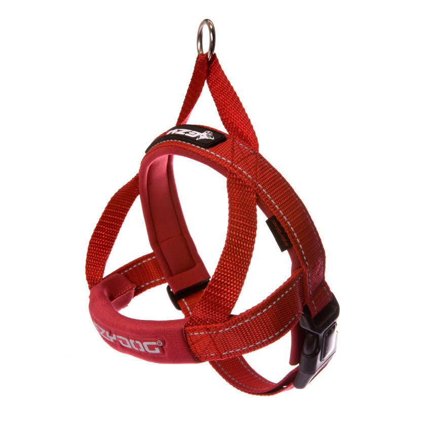 EzyDog Quick Fit Adjustable Dog Harness - Red, Large