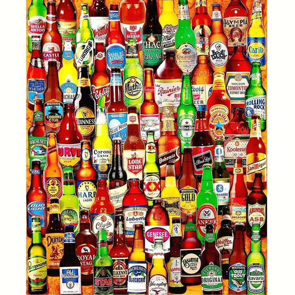 White Mountain Puzzles 99 Bottles of Beer on the Wall 1000-Piece Jigsaw Puzzle - 24in x 30in