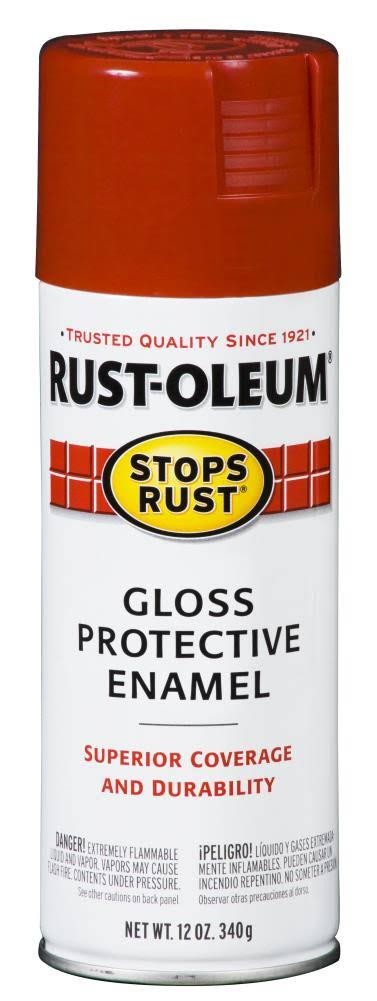 Rust-Oleum Stops Rust Protective Enamel Gloss Spray Paint - Sunrise Red, 340g