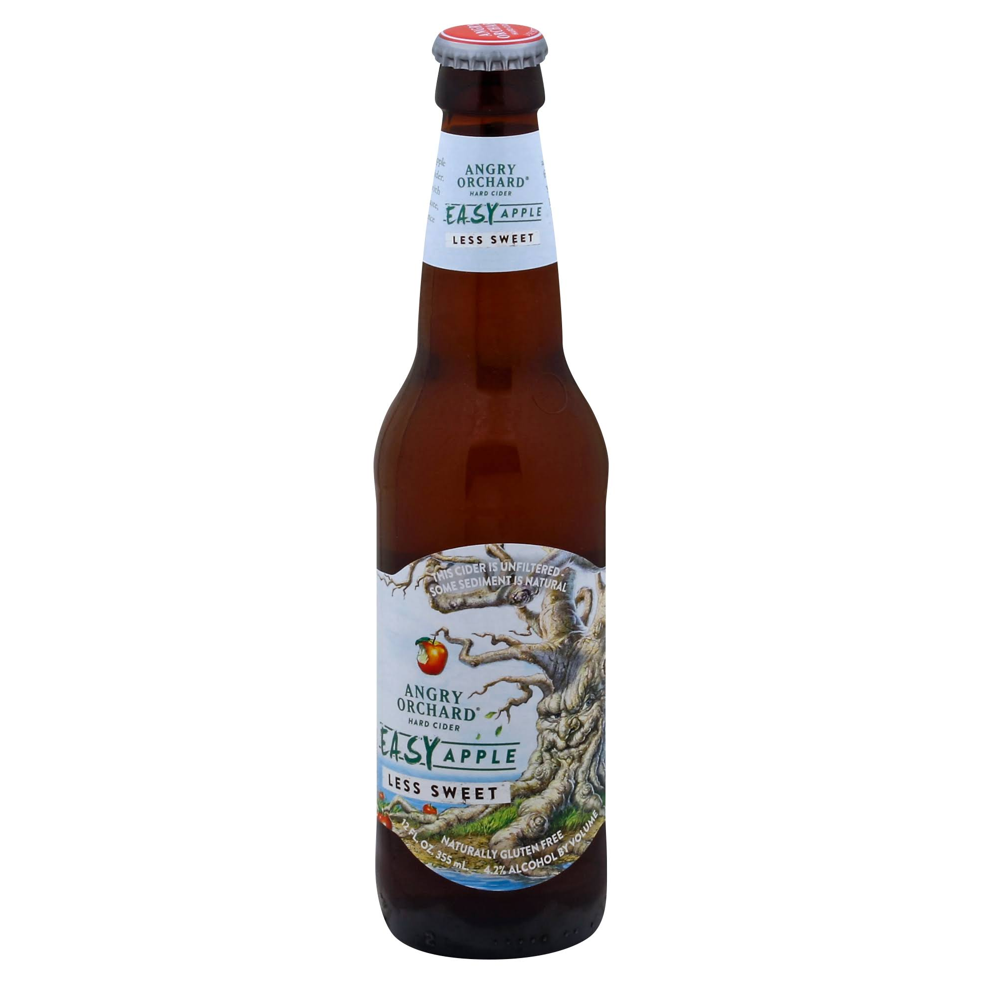 Angry Orchard Hard Cider, Easy Apple - 12 fl oz