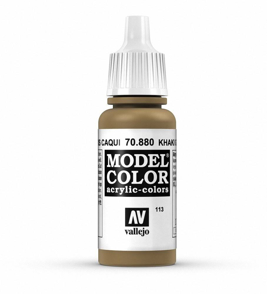 Vallejo Model Color Acrylic Paint - 17ml, Khaki Grey