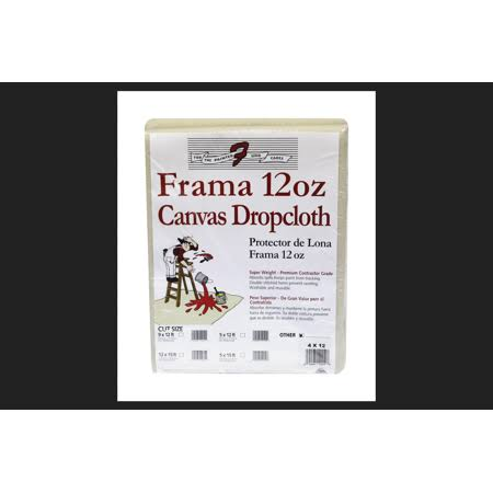 Trimaco Frama Super Heavy Weight Canvas Drop Cloth 4 ft. W x 12 ft. L