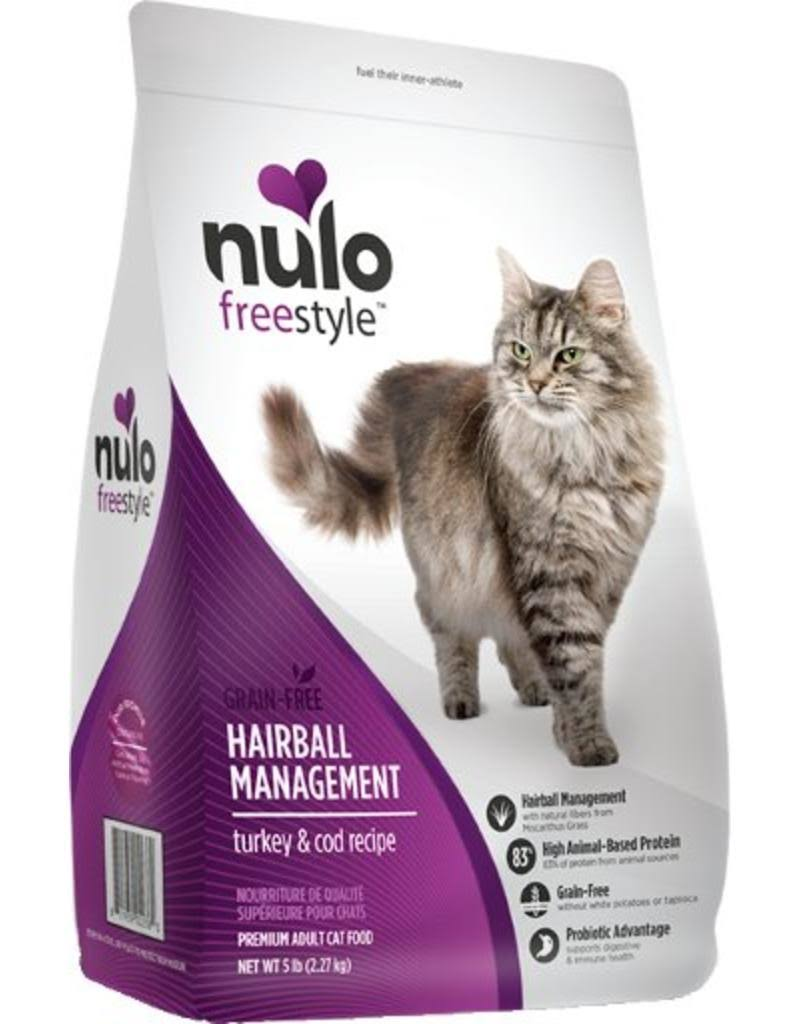 Nulo Freestyle Hairball Management Turkey & Cod Dry Cat Food 5 lbs