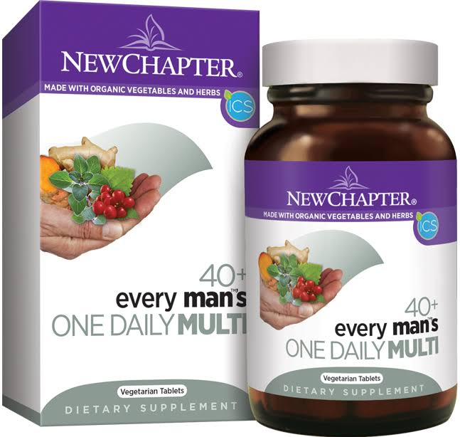 New Chapter 40+ Every Man's One Daily Multi Dietary Supplement - 72 Tablets