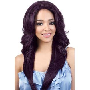 Motown Tress Human Hair Blend Swiss Silk Lace Front Wig - HBSL.DORY (4 Medium Brown)