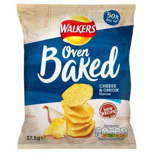 Walkers Baked Crisps - Cheese & Onion, 37.5g