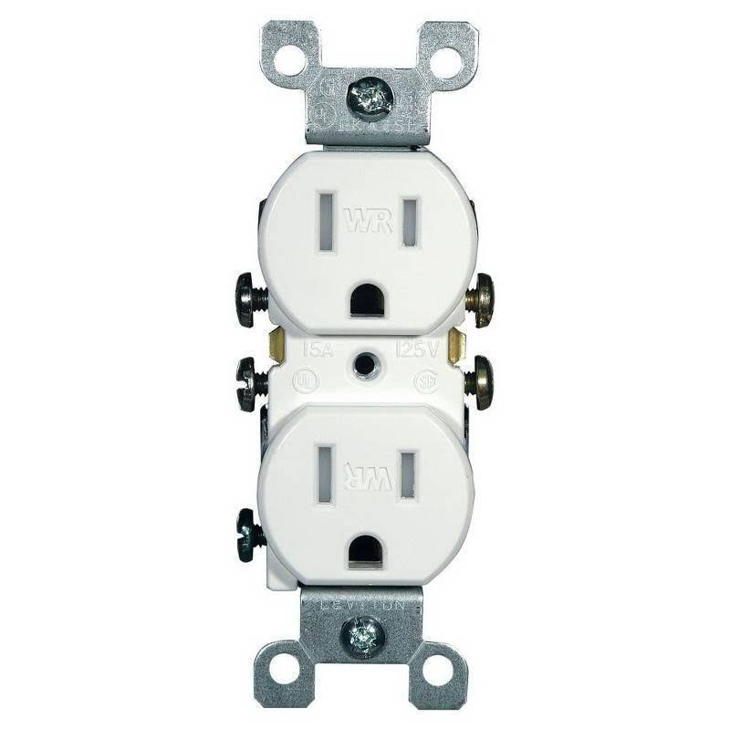 Leviton Outlet - White, 15 Amp