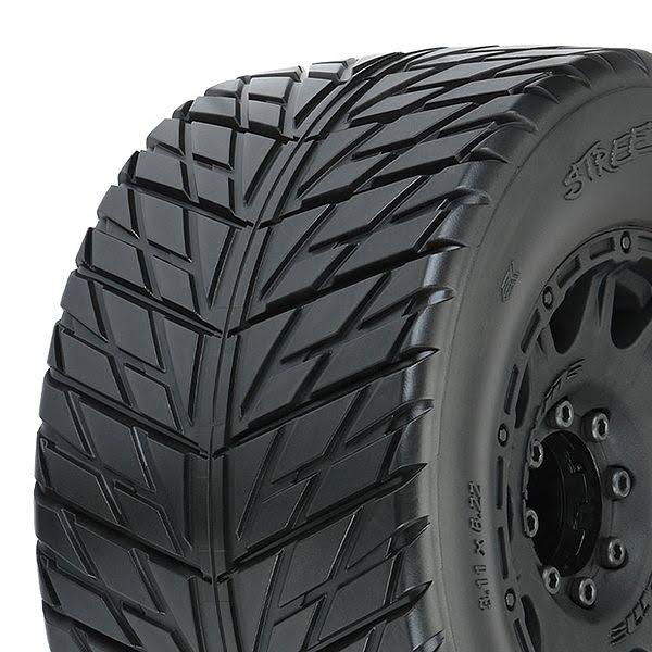 Pro-Line 10167-10 - Street Fighter HP 3.8 Belted Tires MTD Raid Wheels