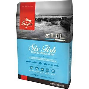 Orijen 6 Fish Formula Dry Cat Food - 12 lb bag