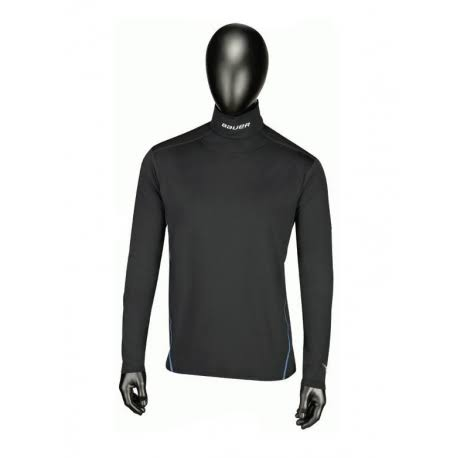 Bauer Youth NG Core Integrated Neck Long Sleeve Top - Black, X-Large