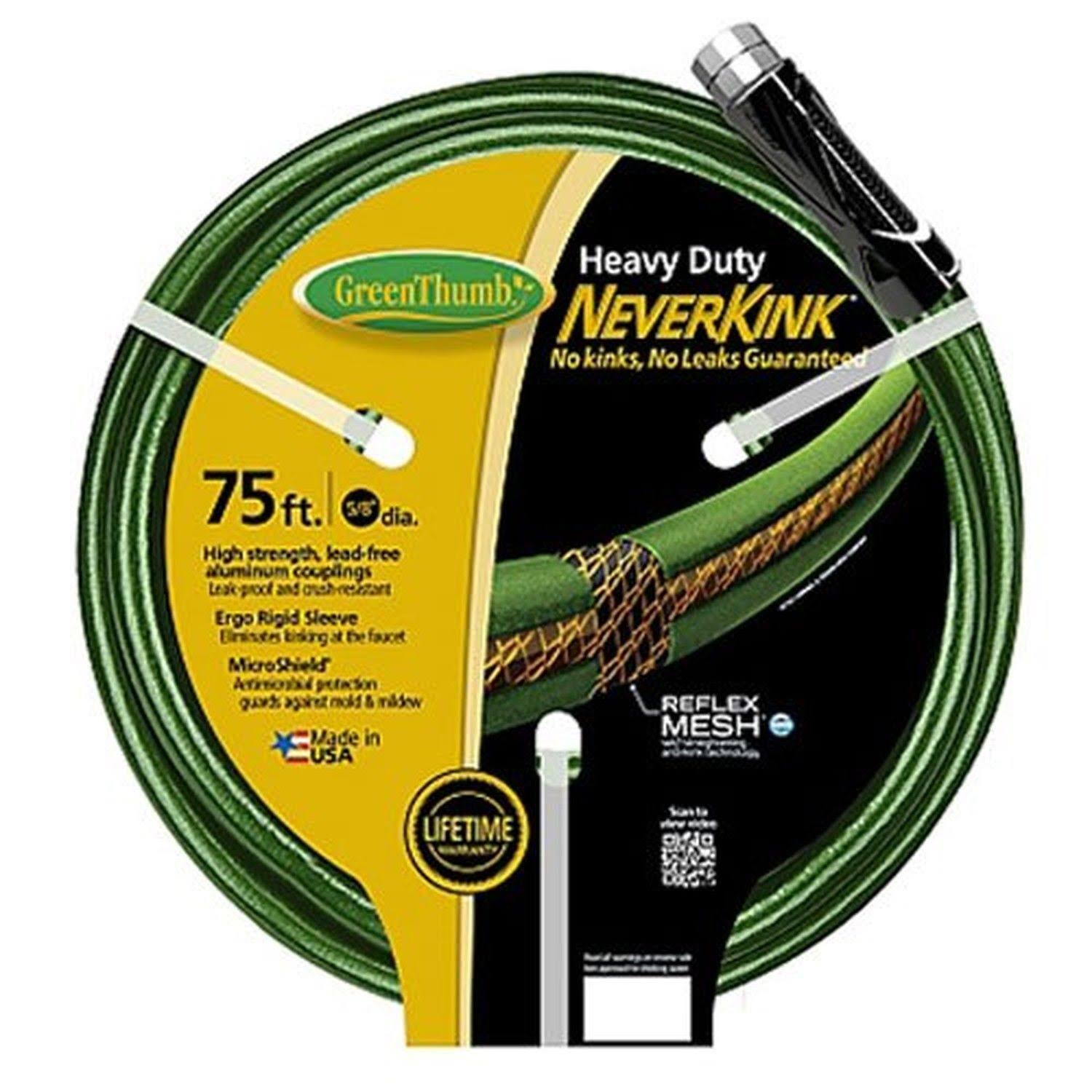 Apex 784678 Neverkink Garden Hose, Heavy-Duty, 5/8-In. x 75-Ft.