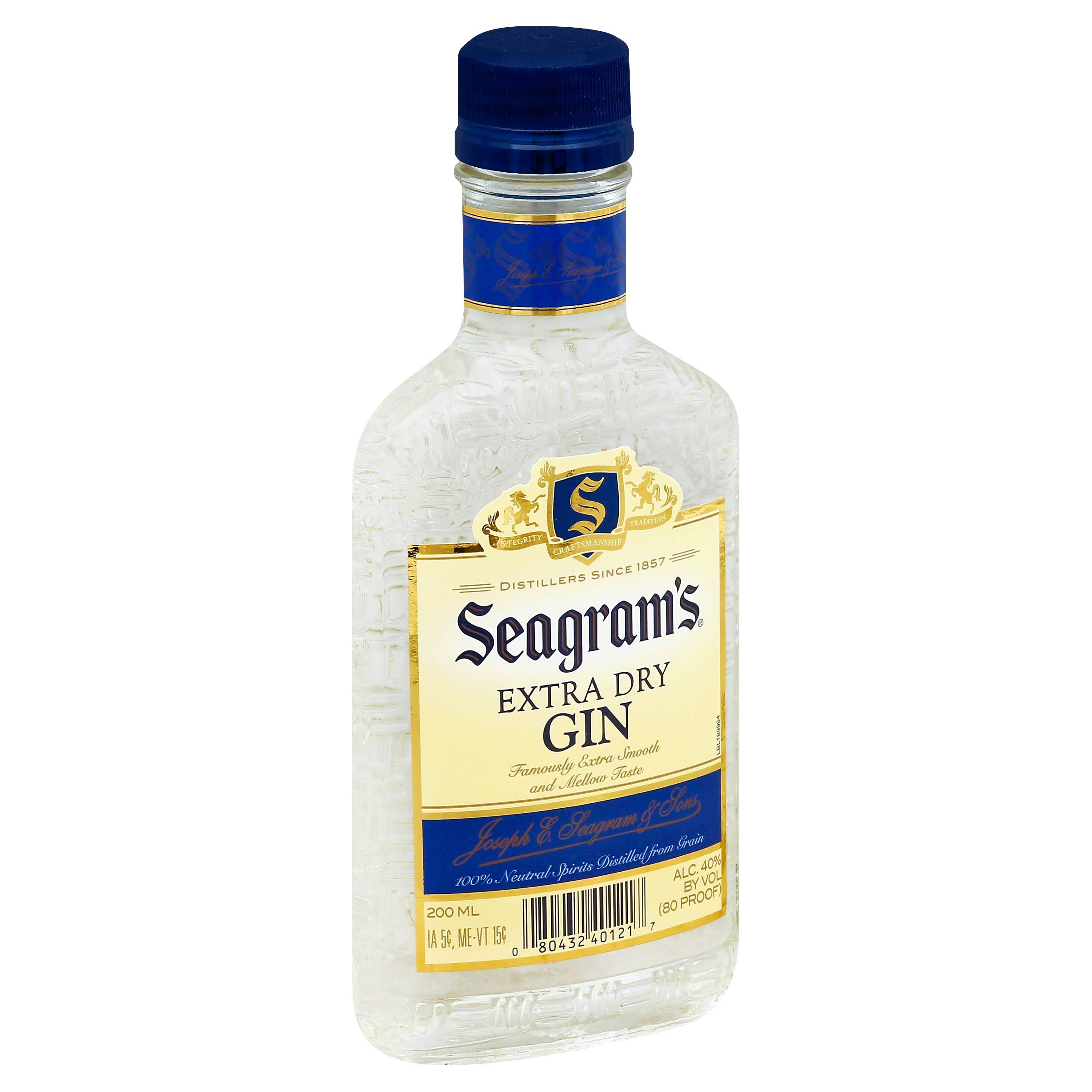 Seagrams Gin, Extra Dry - 200 ml