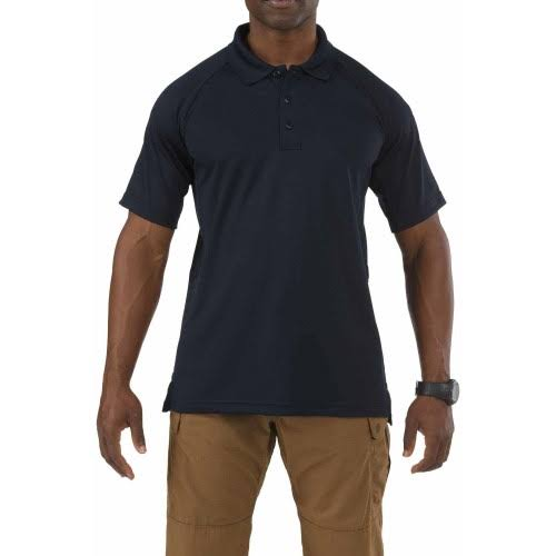 5.11 Tactical #71049 Performance Polo Short Sleeve Shirt - Dark Navy, Small
