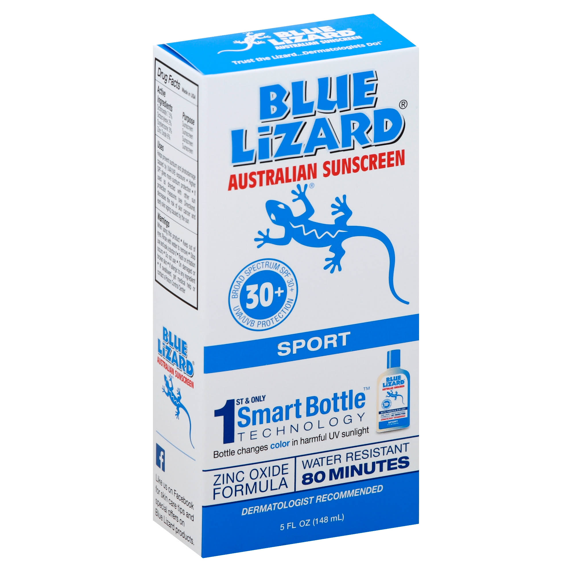 Blue Lizard Sport Australian Sunscreen - 148ml, SPF 30+