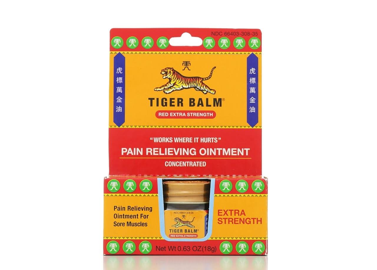 Tiger Balm Red Extract Strength Concentrated Pain Relieving Ointment - 18g