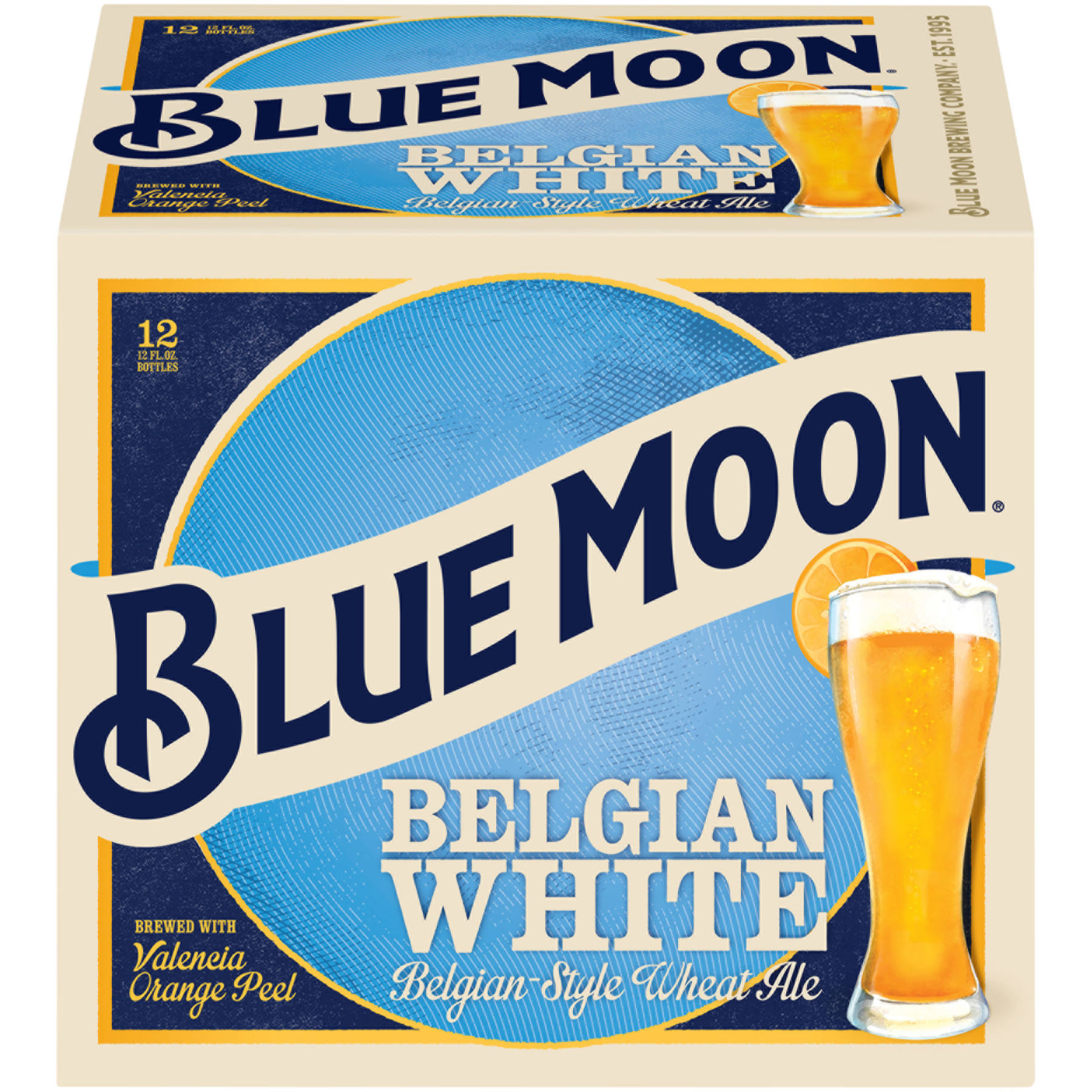 Blue Moon Wheat Ale, Belgian-Style, Belgian White, 12 Pack - 12 pack, 12 fl oz bottles
