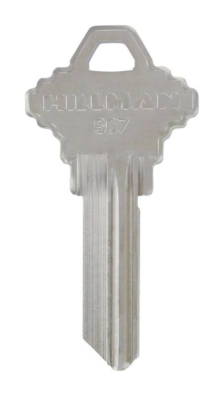 The Hillman Group Brass House Blank Key