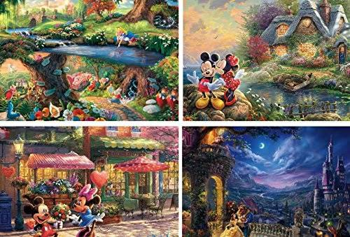 Ceaco Thomas Kinkade The Disney Collection 4 in 1 500 Piece Puzzle