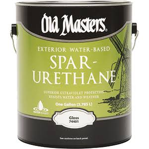 Old Masters 74401 Exterior Water-Based Spar Urethane Gloss Finish