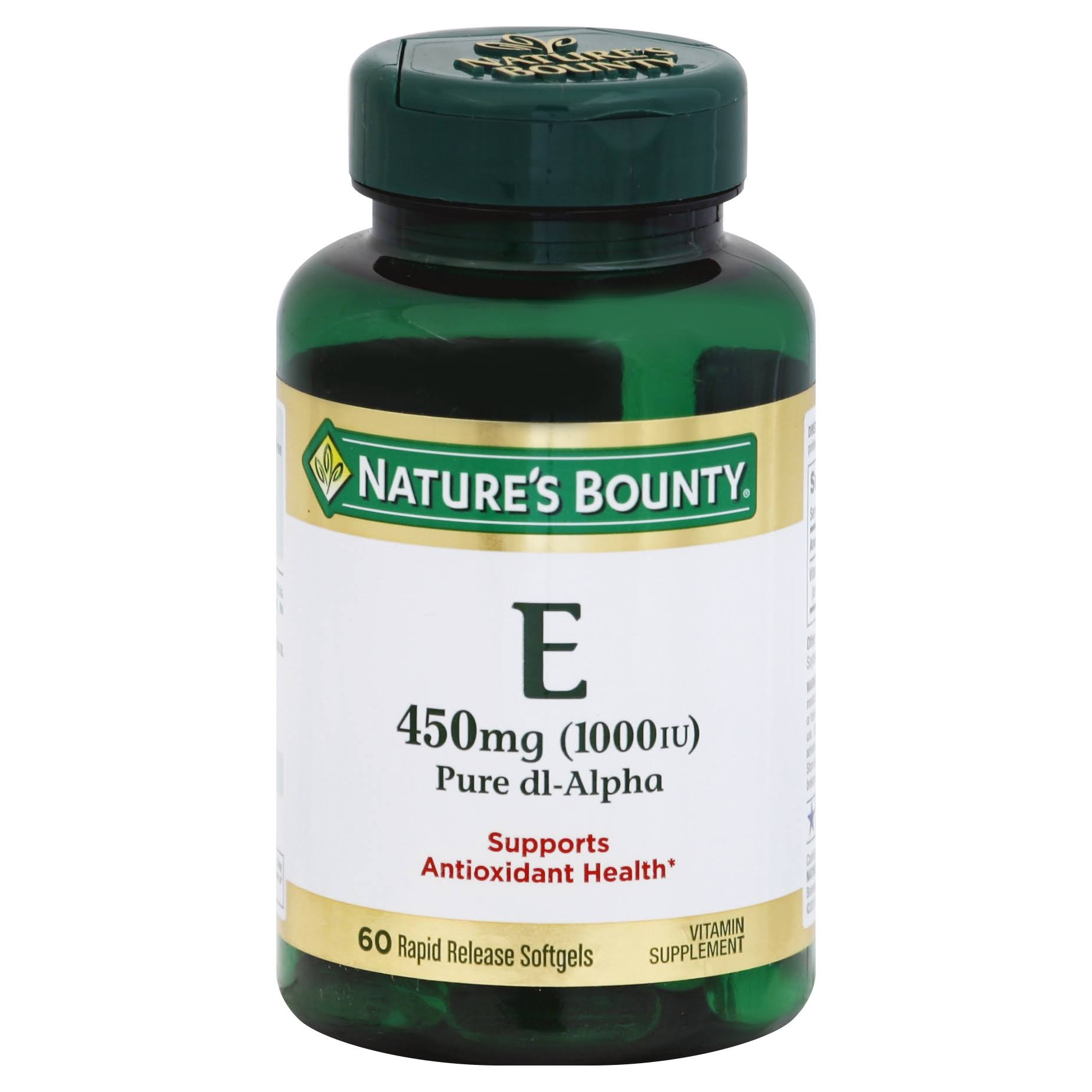 Nature's Bounty E Pure dl-Alpha Rapid Release Supplement - 1000 IU, 60ct