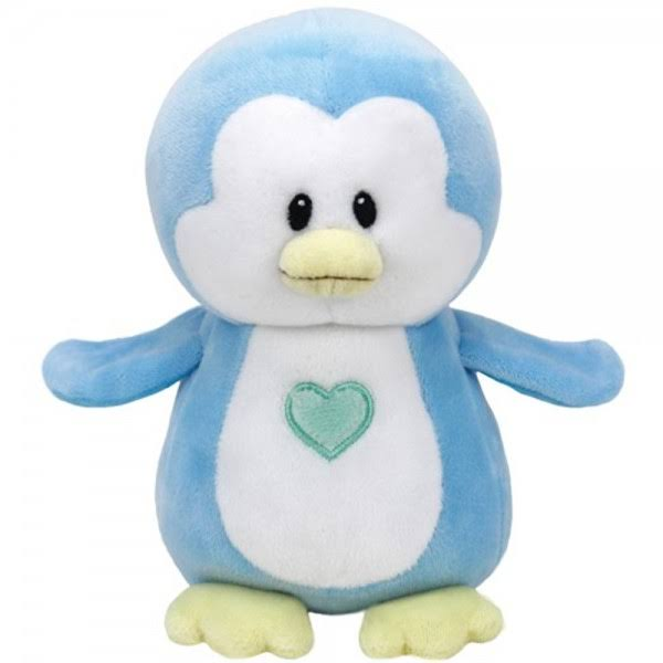 Baby Ty - Twinkles The Blue Penguin (Medium Size - 7.5 inch)