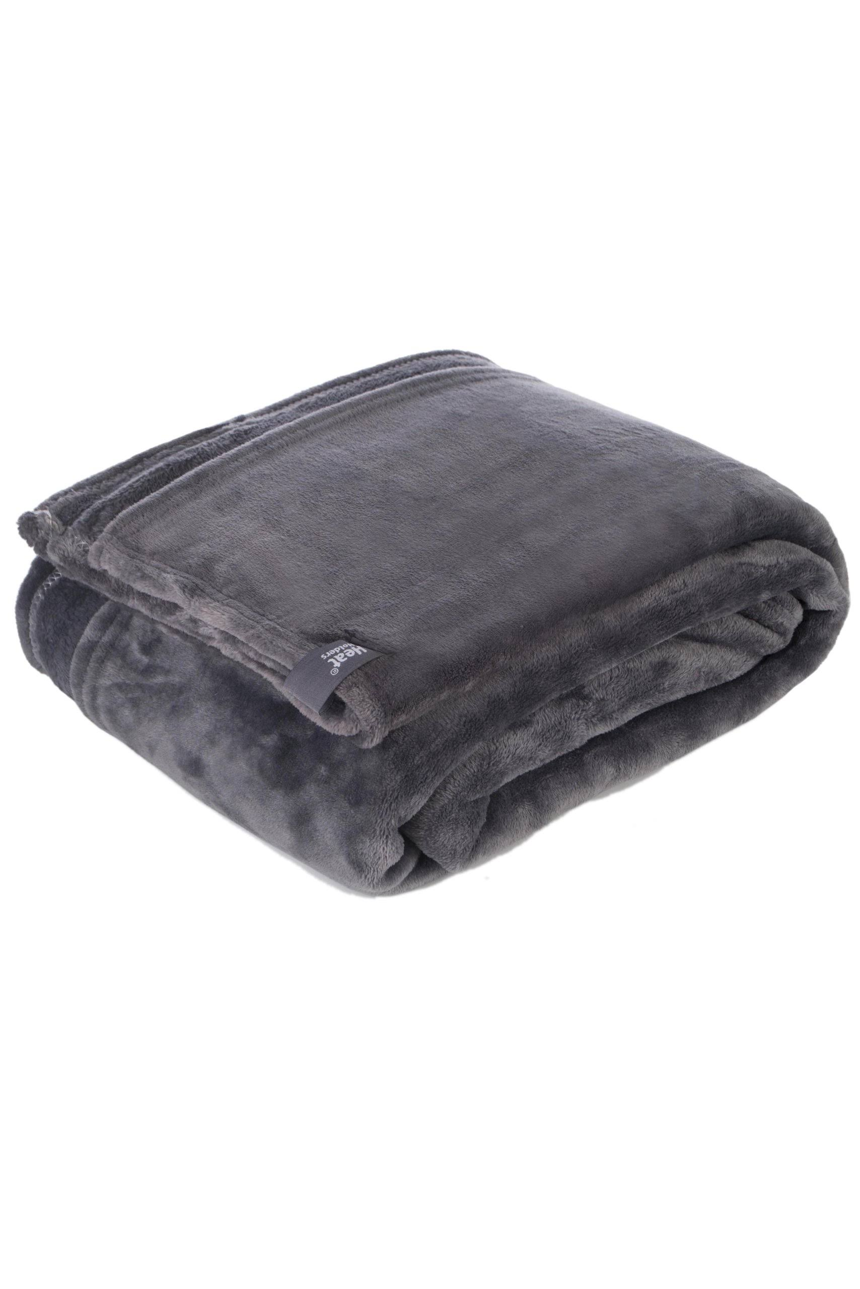 Heat Holder Thermal Soft Fleece Blanket - Antique Silver, 180cm X 200cm