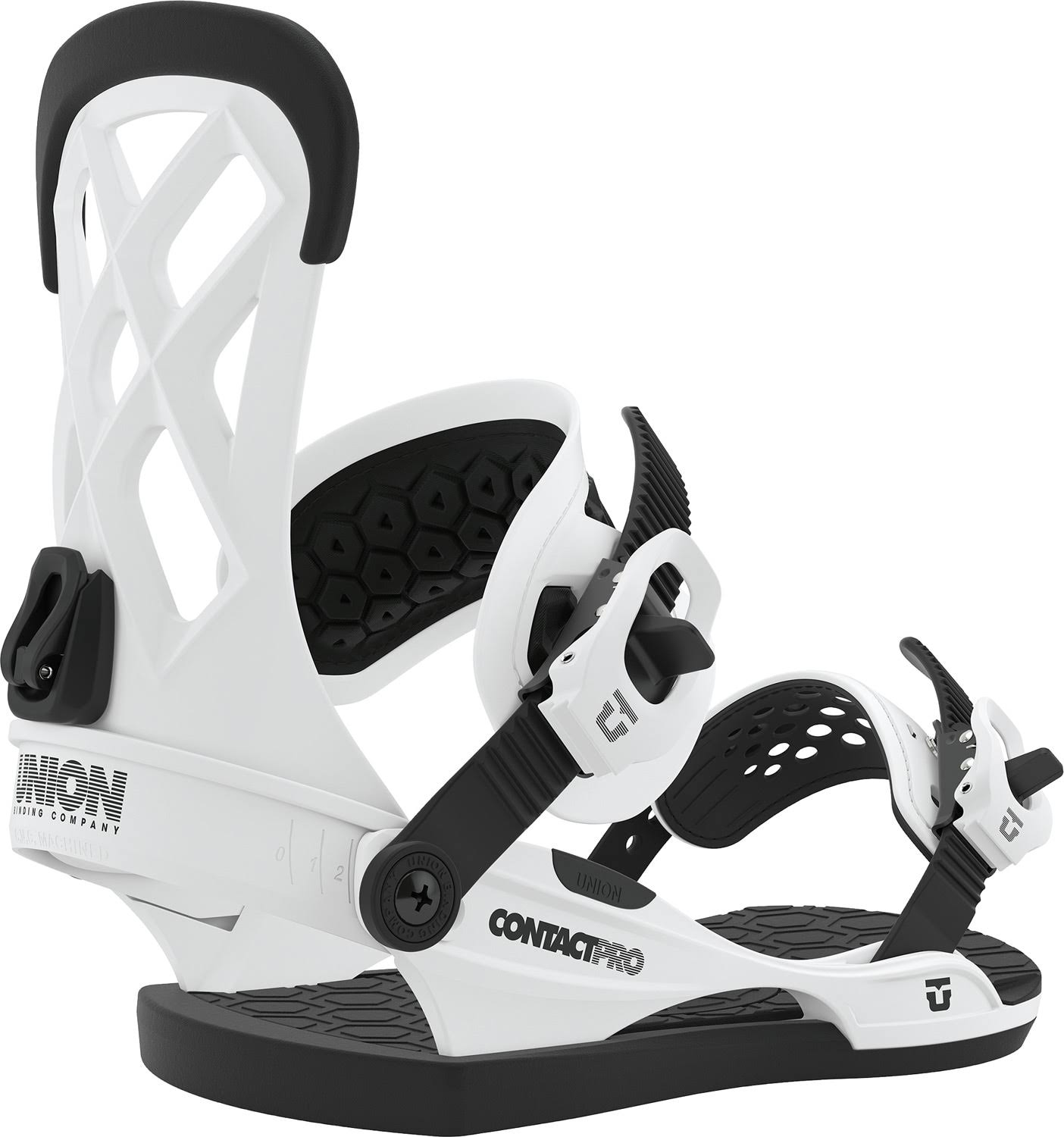 Union Adult Unisex Contact Pro Snowboard Bindings - White, Large