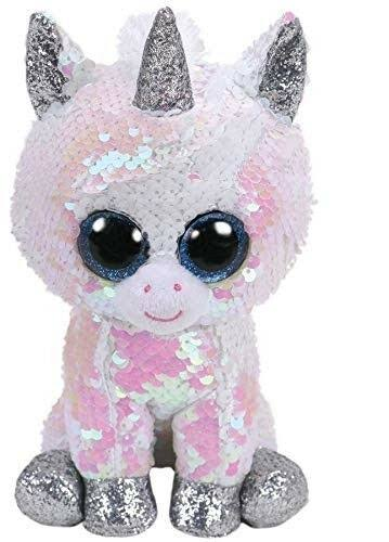 Ty Flippables Medium Plush Diamond Unicorn