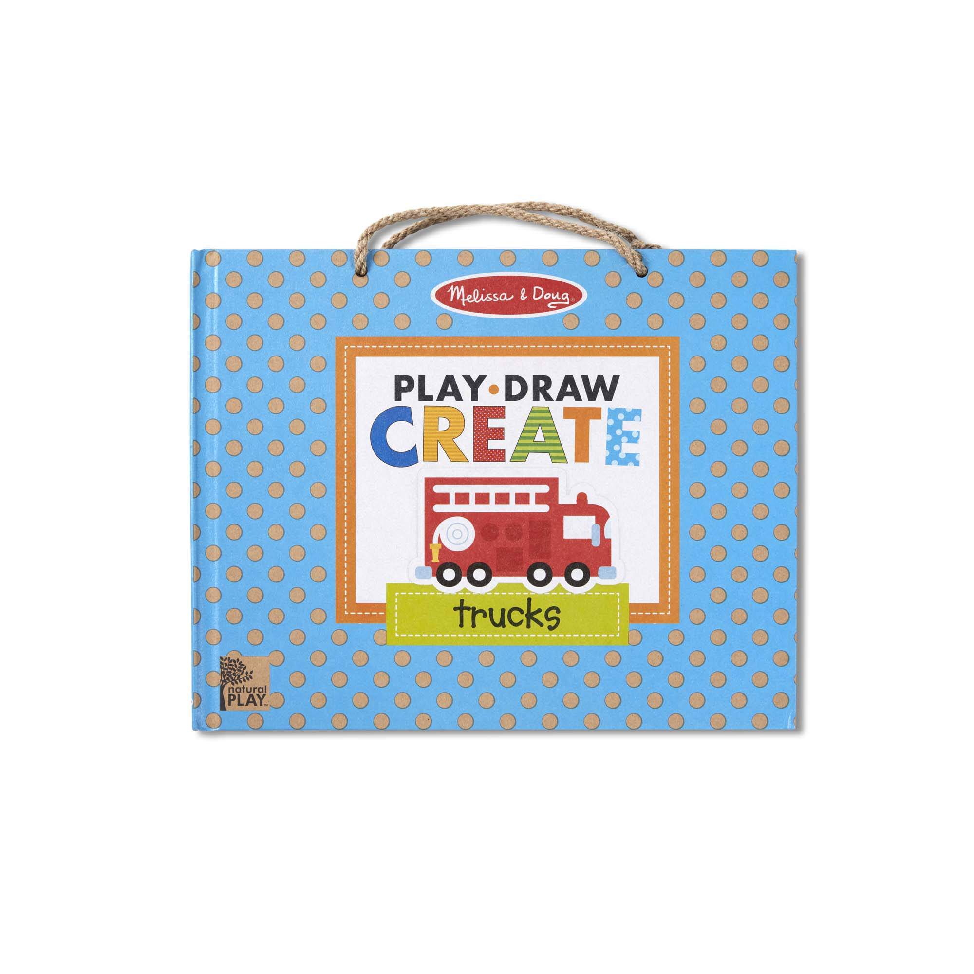 Melissa & Doug Play, Draw, Create Reusable Drawing & Magnet Kit - Trucks