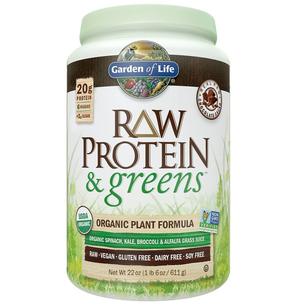 Garden of Life Raw Protein & Greens Powder - Chocolate, 611g