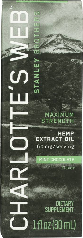 Charlottes Web Hemp Extract Oil, Maximum Strength, Mint Chocolate Flavor - 1 fl oz