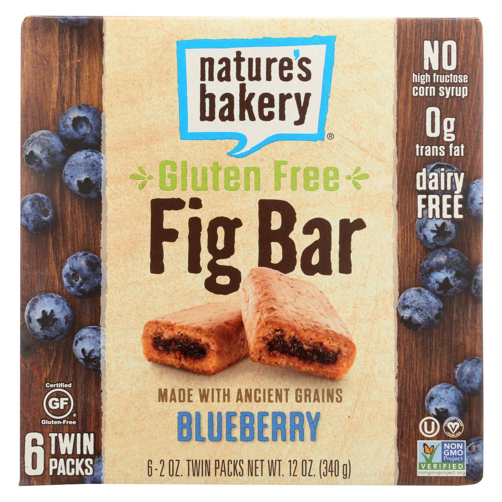 Nature's Bakery Gluten Free Fig Bars, Blueberry - 6 pack, 12 oz box