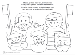 Scary Halloween Coloring Pages Online by Dental Halloween Coloring Pages Coloring Page