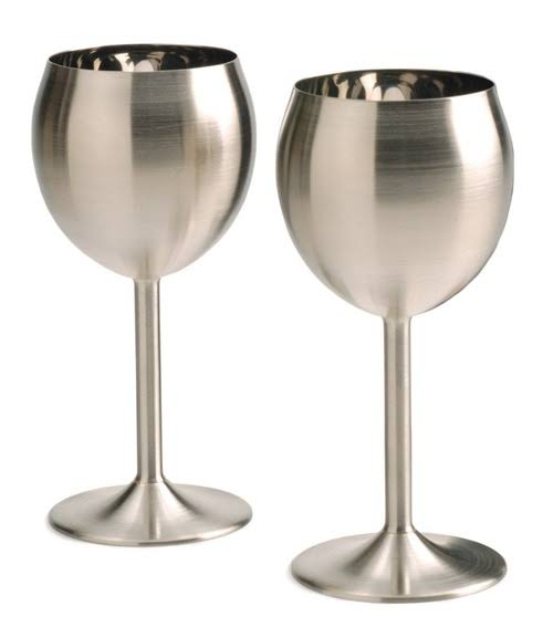 Rsvp Endurance Wine Glasses - Stainless Steel, 8oz, Set of 2