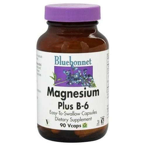 Bluebonnet Magnesium Plus B6 Dietary Supplement - 90 Vcaps