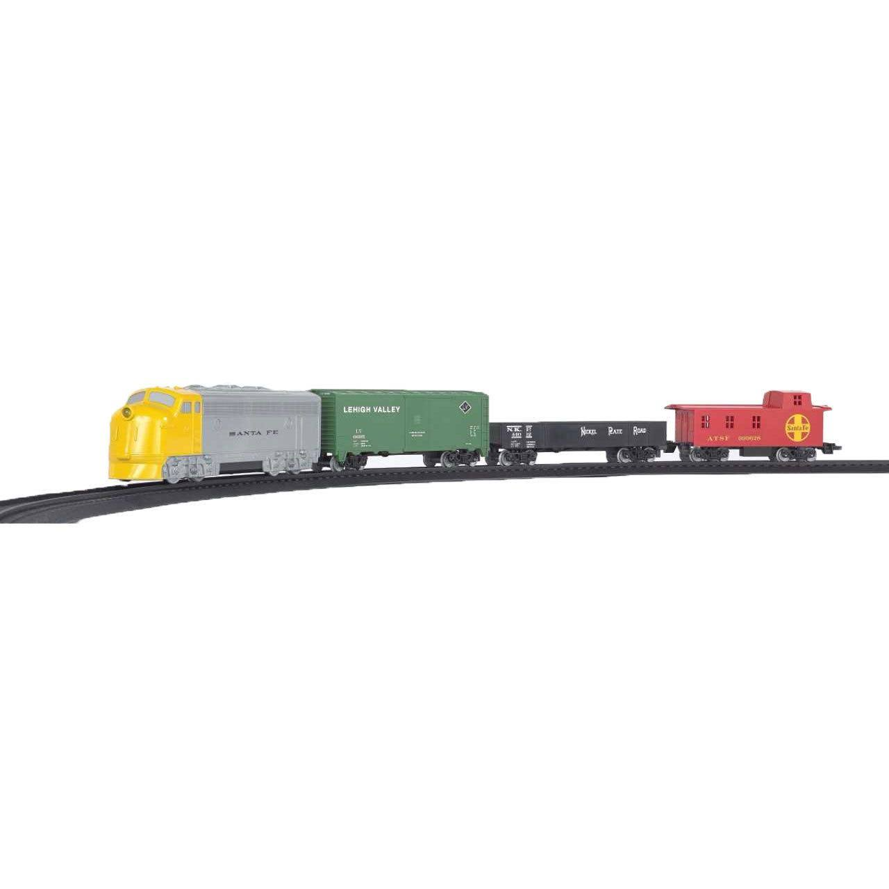 Bachmann Industries HO Scale Battery Operated Rail Express Train Set, Yellow