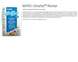 Mapei Porcelain Tile Mortar by Italbec Accessories Setting Materials