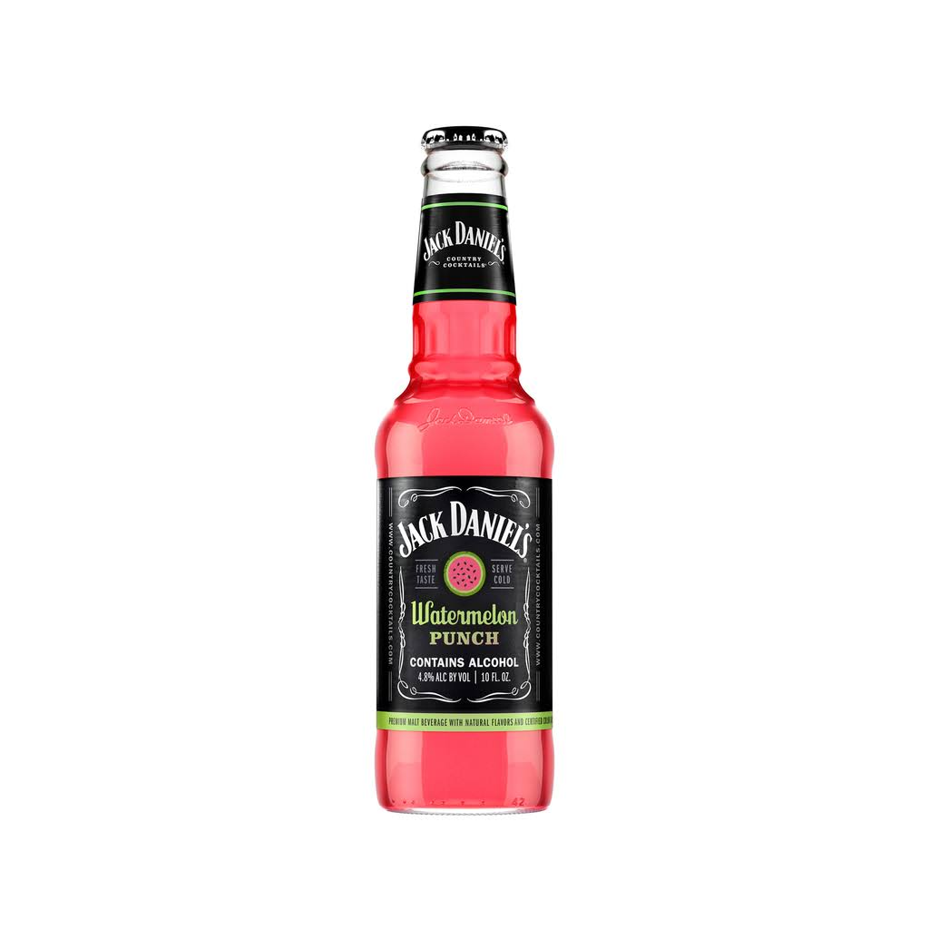 Jack Daniels Country Cocktails Watermelon Punch Beer, Flavored Malt Beverage - 10 oz