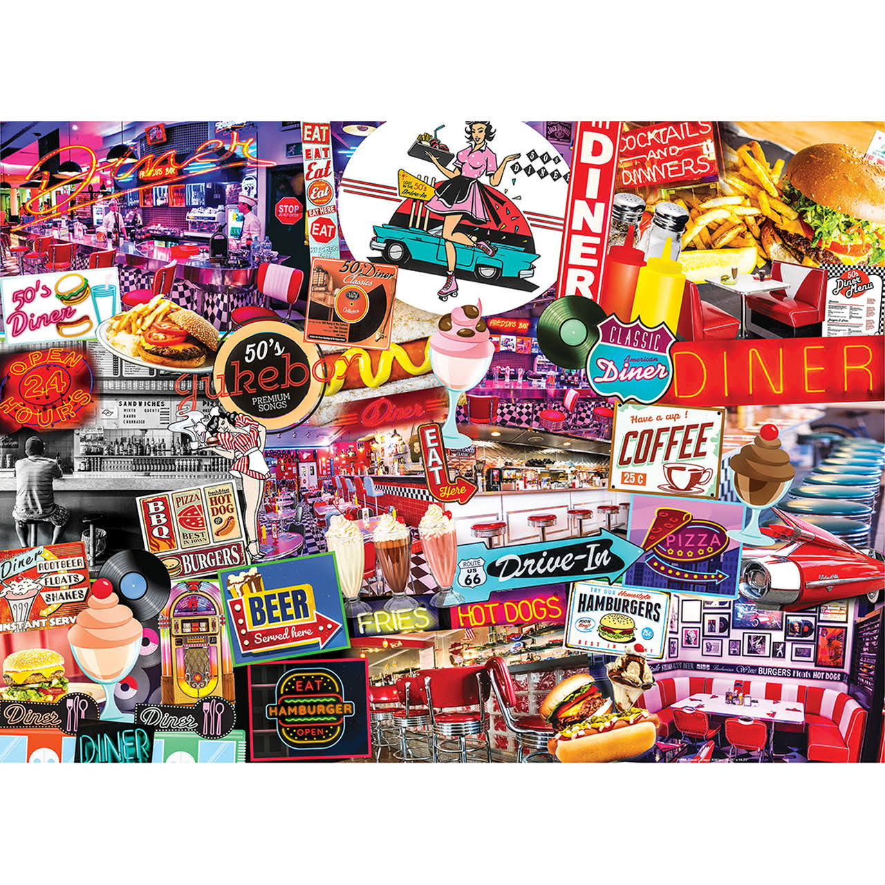 Masterpieces Flashbacks - Quick Stop Diner 1000 Piece Puzzle