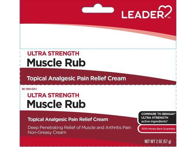 Leader Ultra Strength Muscle Rub Cream - 2oz