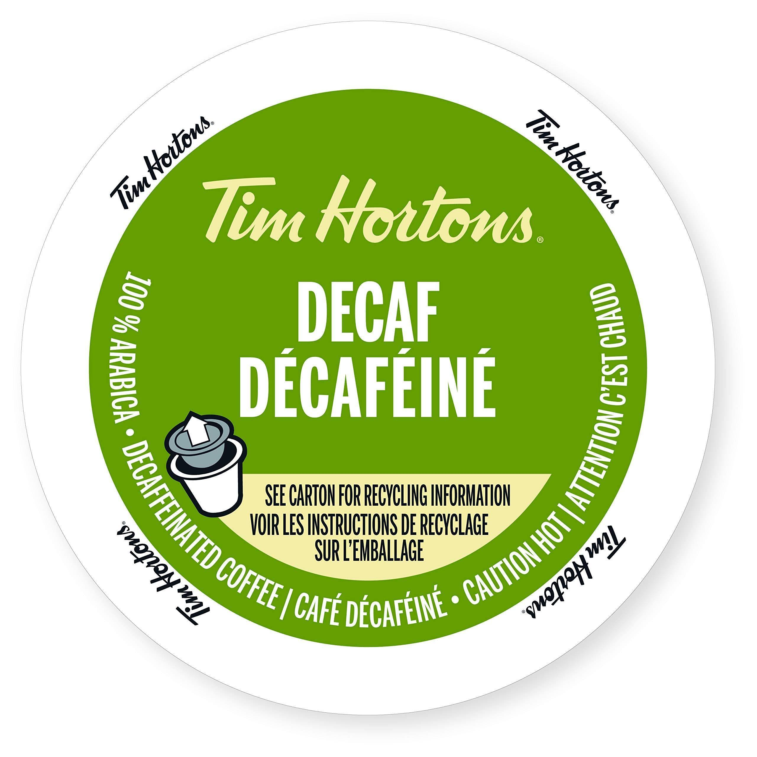 Tim Hortons Single Serve K Cup Decaffeinated Coffee - 12ct
