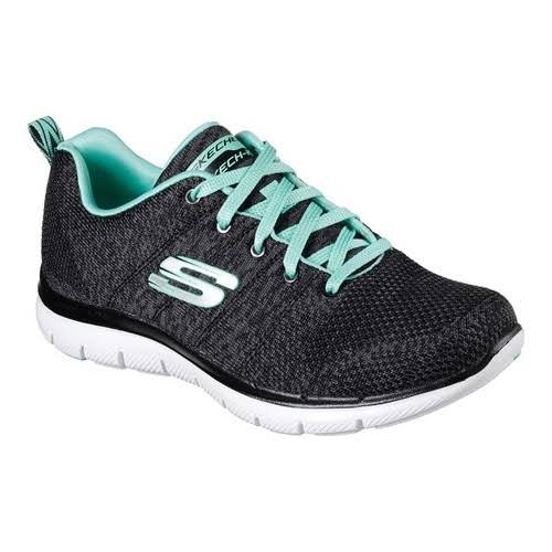 Skechers Women's Flex Appeal 2.0 High Energy Shoes - Black, 9.5 USW